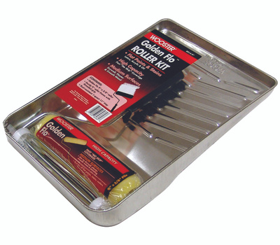 Wooster R914-9 Golden Flo 9 Inch 3/8 Inch Nap Paint Roller Kit With Deluxe Metal Tray