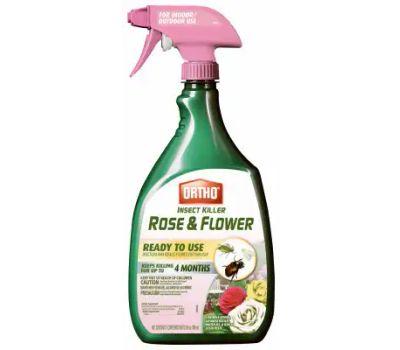 Ortho 0345610 Insect Killer, Liquid, Spray Application, Flowers and Roses, Ornamental Shrubs Garden, 24 Ounce Bottle