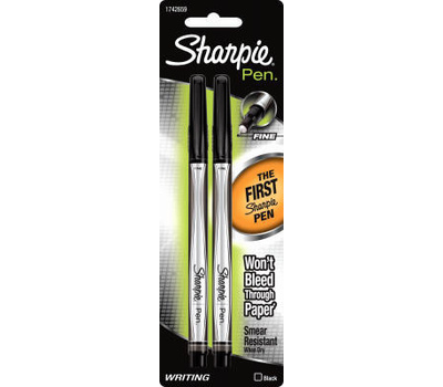 Sanford 1742659 Sharpie Blk Pen 2 Pack
