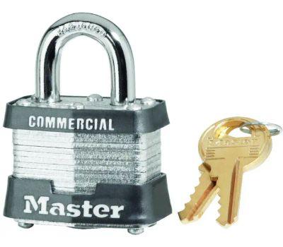 Master Lock 3KA-3303 1-9/16 Keyed Alike Steel Padlock
