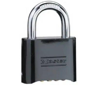 Master Lock 178D 2 Inch Black Resettable Combination Padlock