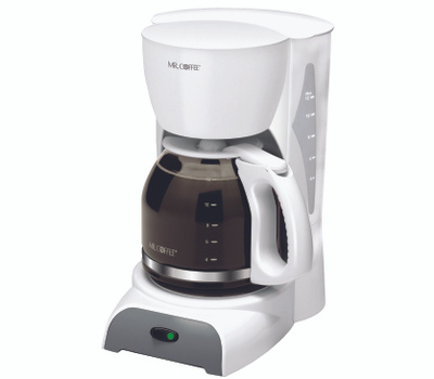 Mr Coffee SK12-RB Coffee Maker, 12 Cups Capacity, 900 W, White