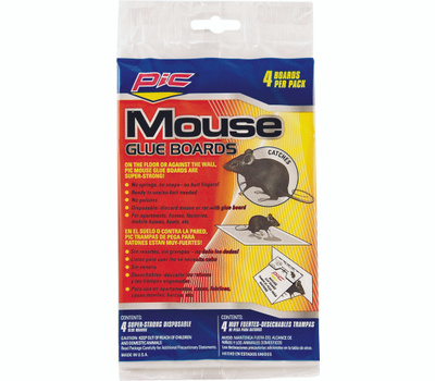 PIC GMT-4F Mouse Glue Traps Pack Of 4