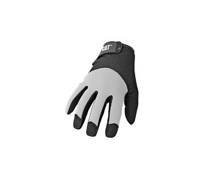 Cat Gloves CAT012215M 012215m Utility Gloves, M, Wrist Strap Cuff, Synthetic Leather, Black/Yellow