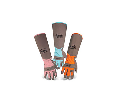 Boss 8419B Guardian Angel Garden Gloves, Women's, One-Size, Wing Thumb, Long Cuff, Coral/Orange/Turquoise