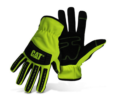 Cat Gloves CAT012250L Gloves Mechanic Hivis Green L