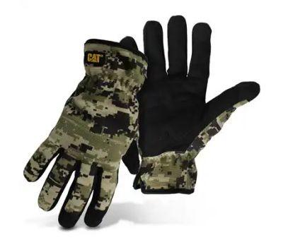 Cat Gloves CAT012270L 012270l Utility Gloves, Men's, L, Open Cuff, Spandex, Camouflage