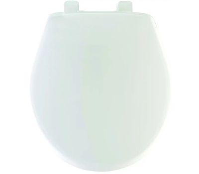 Bemis 20-000/20B-000 Mayfair White Round Plastic Toilet Seat