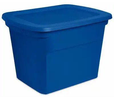 Sterilite 17311C08 Box Tote Blue Aquarium 16 Gallons