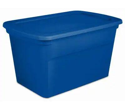Sterilite 17361C06 Box Tote Blue Aquarium 30 Gallons