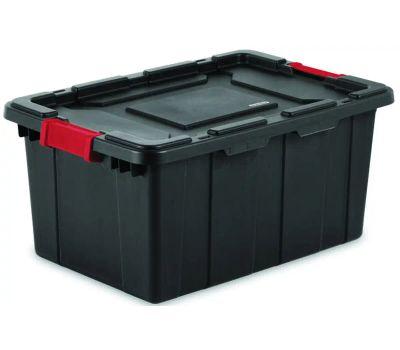 Sterilite 14649006 Tote Industrial Black 15 Gallon