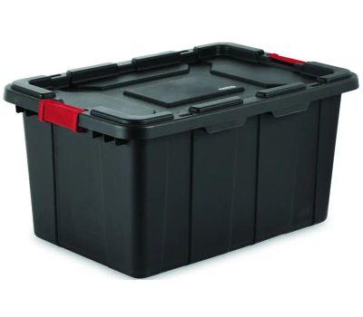 Sterilite 14669004 Tote Industrial Black 27 Gallon