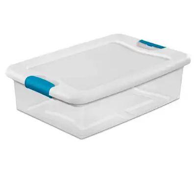 Sterilite 14968006 Box Latching With Lid Plastic 32 Quart