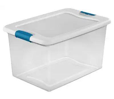 Sterilite 14978006 Box Latching 64 Quart With White Lid