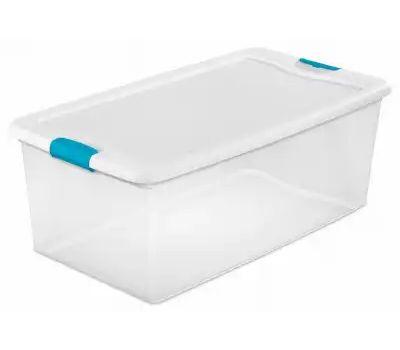 Sterilite 14998004 Box Latching With Lid Plst 106 Quart