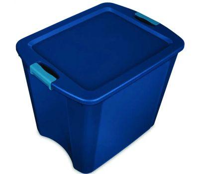 Sterilite 14487404 Tote Latch Carry True Blue 26 Gallon