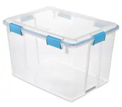 Sterilite 19384304 Gasket Box 80 Quart Clear Lid
