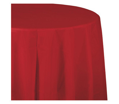 Creative Converting 010052 14 Foot Red Plas Table Skirt