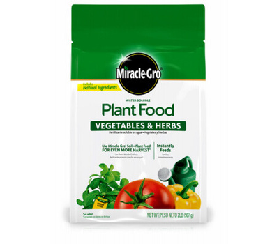 Miracle Gro 3003710 Food Plant Vegetable&Herbs 2 Pound