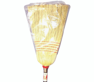 Zephyr Manufacturing 38032 Janitor Broom, #32 Sweep Face, Natural Fiber Bristle
