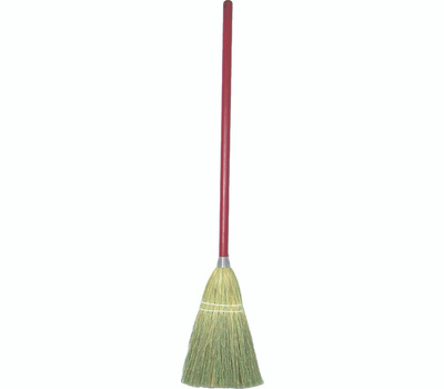 Birdwell Cleaning 9301-12 Toy Broom Corn and Sotol Fiber Bristle 24 Inch Red Handle