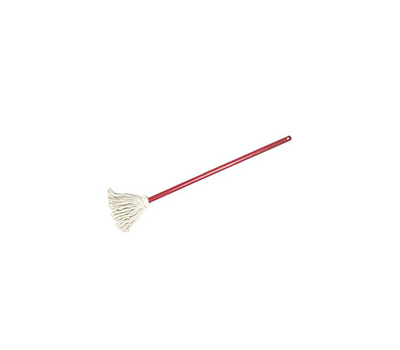 Birdwell Cleaning 9302-12 Cotton Yarn Toy Mop With 24 Inch Red Handle