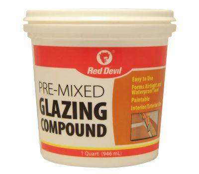 Red Devil 0664 Glazing Compound White Tub Quart