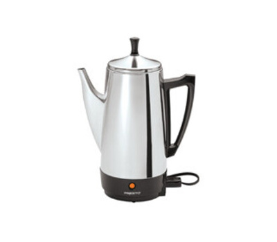 Presto 02811 Electric Coffee Maker, 2 to 12 Cups Capacity, 800 W, Stainless Steel
