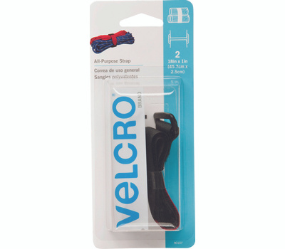 Velcro Brands 90107 Black Cinch Strap Fastener Pack Of 2