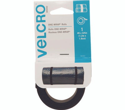 Velcro Brands 90302 3/4 Inch By 36 Inch Black Two-Sided Strap