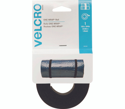 Velcro Brands 90340 12 Foot By 3/4 Inch Black Bundling Strap For Cables Wires & Cords