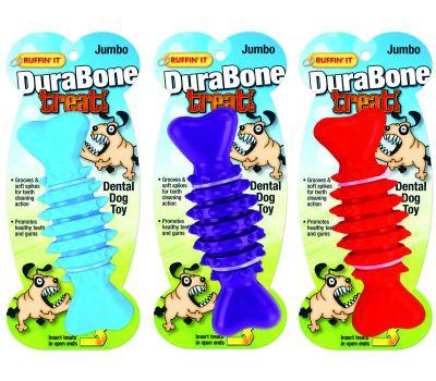 Westminster Pet 80602 Dental Dog Toy, Jumbo, Durabone Toy, Blue/Purple/Red