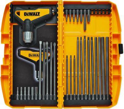 DeWalt DWHT70265 31 Piece Ratcheting T Handle Hex Key Set Metric And Sae