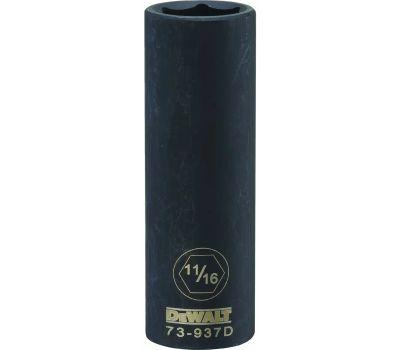 DeWalt DWMT73937OSP Impact Socket, 11/16 in Socket, 1/2 in Drive, 6 -Point, Cr-440 Steel, Black Oxide