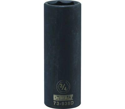 DeWalt DWMT73938OSP Impact Socket, 3/4 in Socket, 1/2 in Drive, 6 -Point, Cr-440 Steel, Black Oxide
