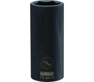DeWalt DWMT73941OSP Impact Socket, 15/16 in Socket, 1/2 in Drive, 6 -Point, Cr-440 Steel, Black Oxide