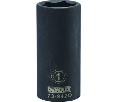 DeWalt DWMT73942OSP Impact Socket, 1 in Socket, 1/2 in Drive, 6 -Point, Cr-440 Steel, Black Oxide