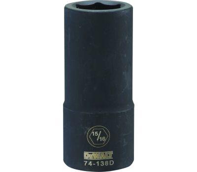 DeWalt DWMT74138OSP Impact Socket, 15/16 in Socket, 3/4 in Drive, 6 -Point, Cr-440 Steel, Black Oxide