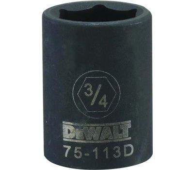 DeWalt DWMT75113OSP Deep Impact Socket, 3/4 in Socket, 1/2 in Drive, 6 -Point, Steel, Black Oxide