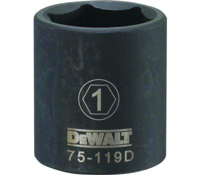 DeWalt DWMT75119OSP Deep Impact Socket, 1 in Socket, 1/2 in Drive, 6 -Point, Steel, Black Oxide