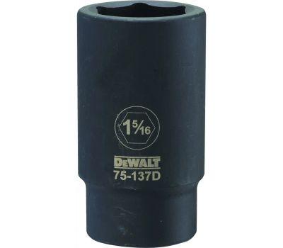 DeWalt DWMT75137OSP Impact Socket, 1-5/16 in Socket, 3/4 in Drive, 6 -Point, Cr-440 Steel, Black Oxide