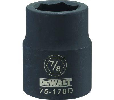 DeWalt DWMT75178OSP Impact Socket, 7/8 in Socket, 3/4 in Drive, 6 -Point, Cr-440 Steel, Black Oxide