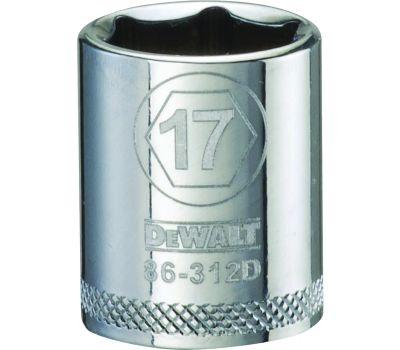 DeWalt DWMT86312OSP Hand Socket, 17 Mm Socket, 3/8 in Drive, 6 -Point, Vanadium Steel, Polished Chrome
