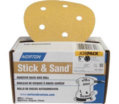 Norton 07660701652 Disc Sndg Adh-Bk 80G 50Pk 6In