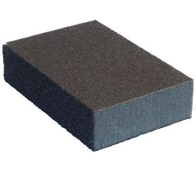 Norton 02081 Multisand Multisand Sanding Sponge, 4 in L, 2-3/4 in W, 75 Grit, Fine/Medium, Silicone Carbide Abrasive