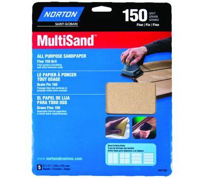 Norton 47720 Multisand Sandpaper Al Oxd 150grt 9x11in