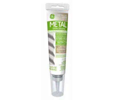 GE Sealants GE285 Aluminum And Metal Silicone Sealant 2.8 Ounce