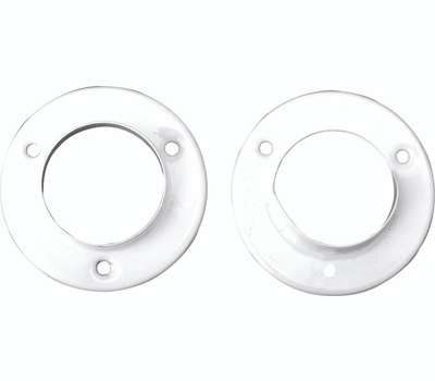 Knape & Vogt BC-0039-WT John Sterling Metal Pole Sockets White