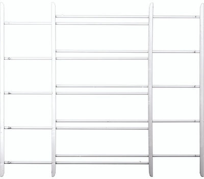 Knape & Vogt 1125 John Sterling Child Safety Window Guards White 5 Bar 25 By 23 To 42 Inch
