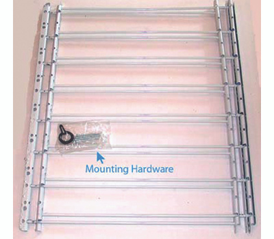 Knape & Vogt 1138 John Sterling Child Safety Window Guards White 8 Bar 30 By 24 To 42 Inch